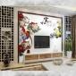 佛山厂家直销 欧雅阁 电视背景墙 批发客厅艺术定制好色屄   吉祥